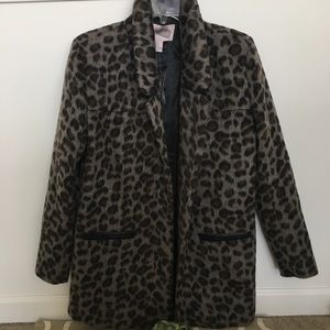 Forever 21 leopard coat, size small
